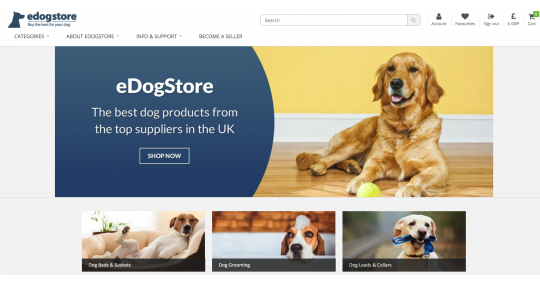 eDogStore is now open!