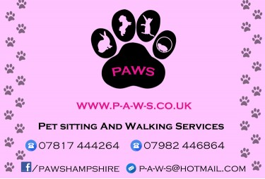 PAWS Pet Sitting and Walking Services